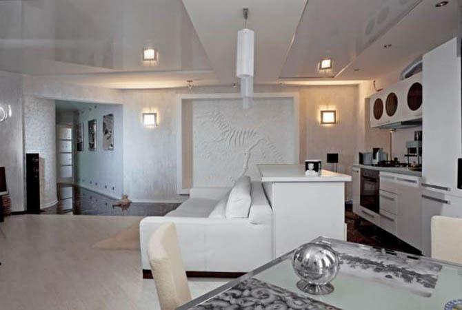 искусственный камень тянь-шань в интерьере квартиры