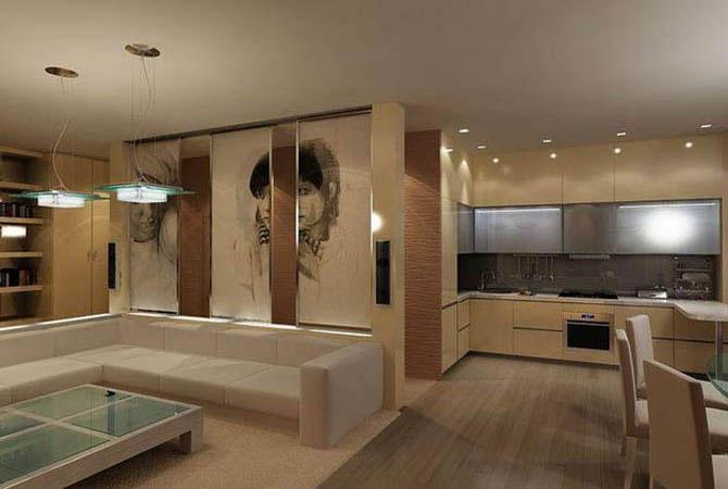 дизайн интерьера комнаты кухни фото