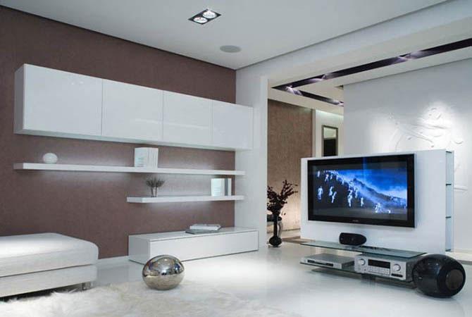 интерьер однокомнатной квартиры с аркой
