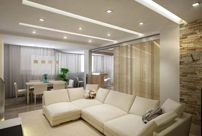 проект интерьера 1комн квартиры