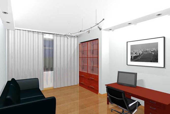 дизайн квартир совместная кухня - зал спальня