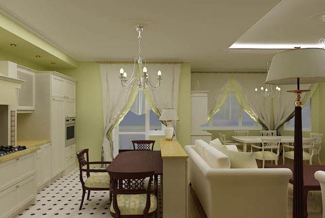 интерьер двухкомнатной квартиры для 4 человек