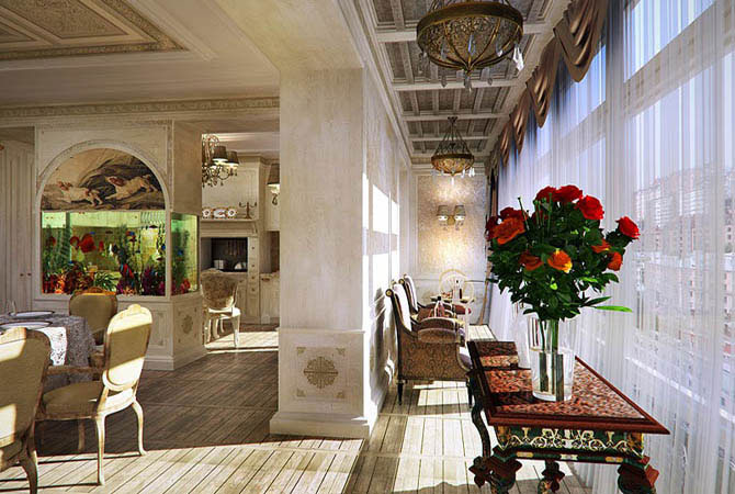 дизайн 2-комнатных квартир площадью 55 м2
