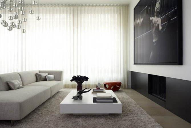 интерьер прямоугольная комната спальня