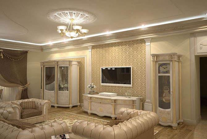 фото дизайна малогабаритной комнаты с тремя дверьми