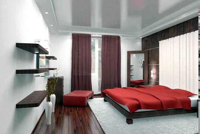 интерьер потолков стандартных квартир