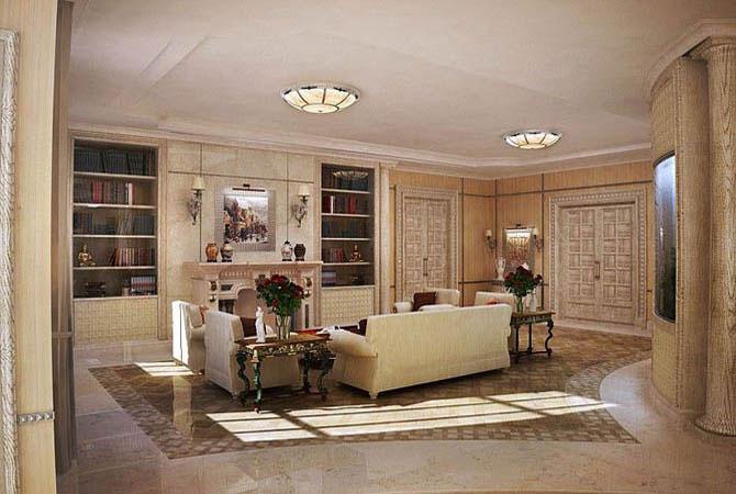 фото интерьера комнаты в черно-золотом