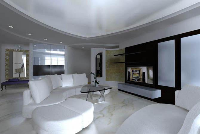 интерьер в гостинной комнате
