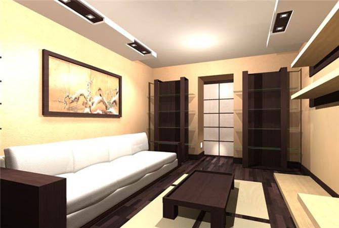 дизайн залов в однокомнатных квартирах