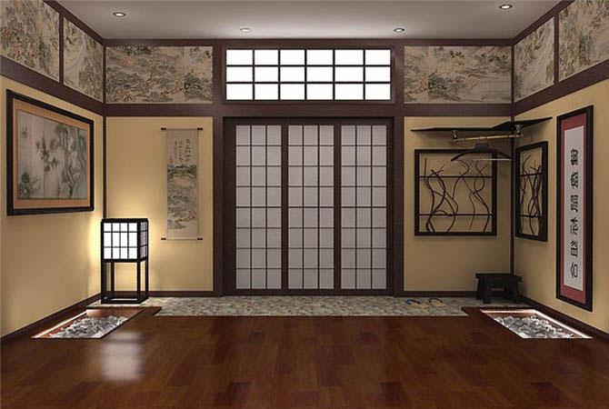 бамбуковые обои дизайн комната