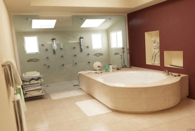 дизайн ванной комнаты в фотографиях с мозаикой