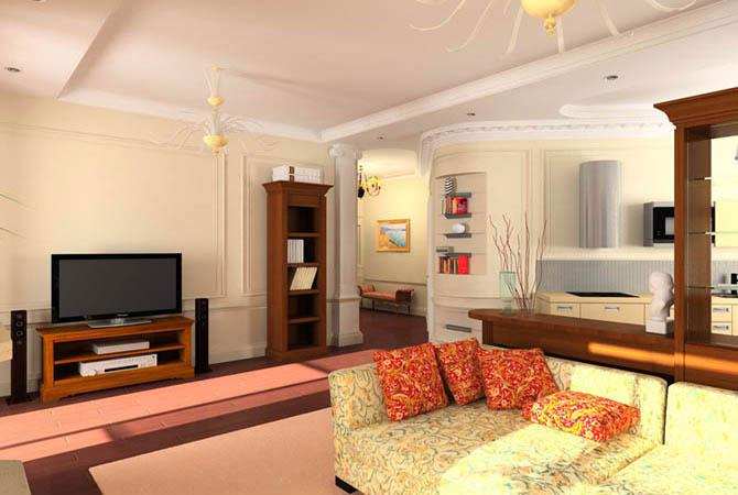 перепланировка двухкомнатной квартиры с очень маленькой кухней