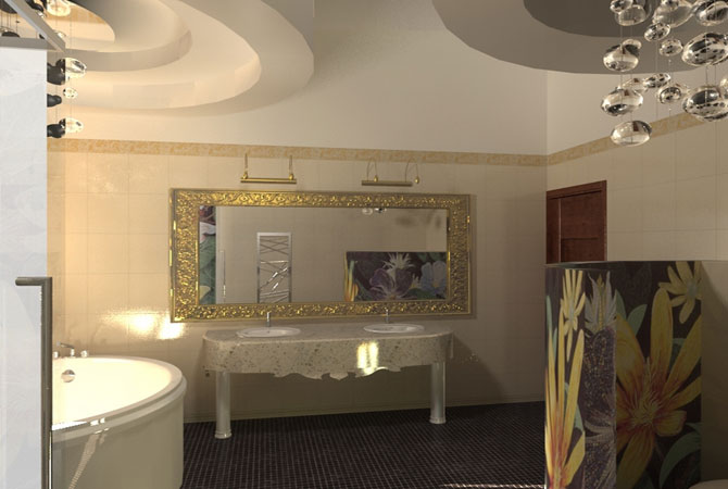 дизайн квартир и гипсокартонных потолков