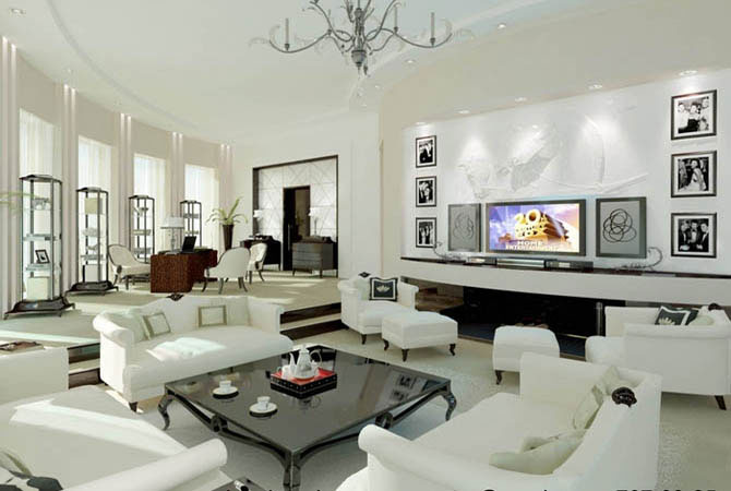 дизайн интерьеров новых квартир и служебных помещений