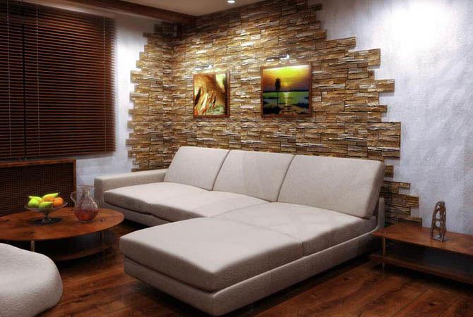дизайн стен и потолка трёх комнатной квартиры