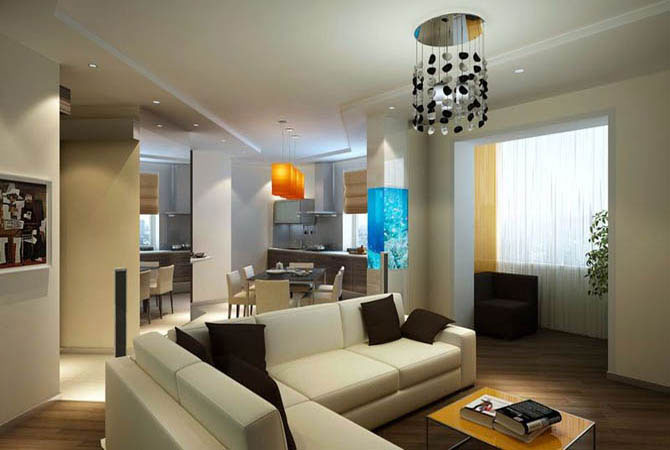 пример дизайна однокомнатной малогабаритной квартиры