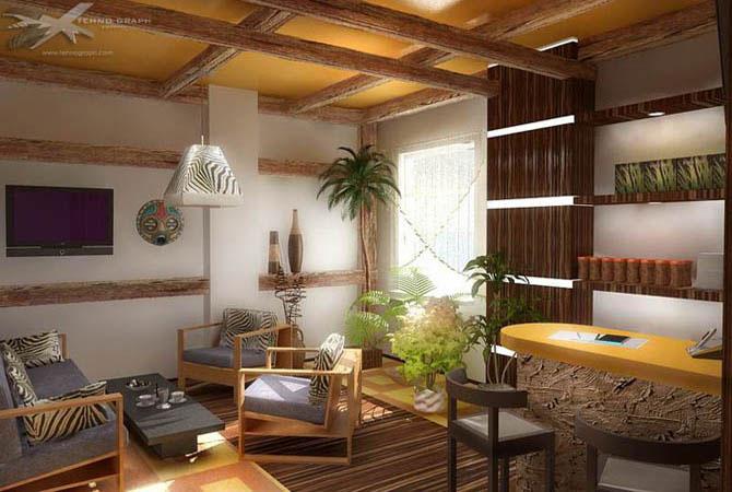 интерьер из комнатных растений