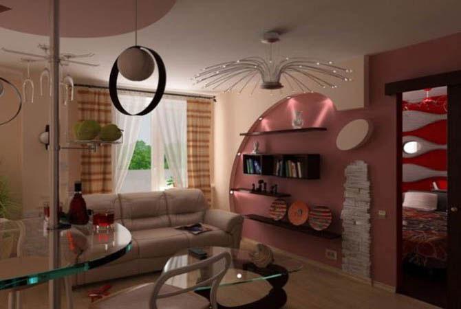 дизайн зала комнаты гостевой